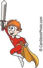 Boy using super hero costume with s
