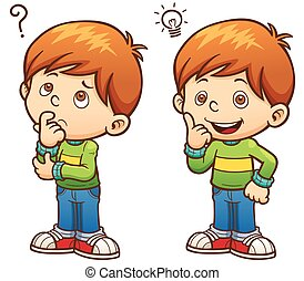 Boy Vector Illustration of Game for chil - Cartoon Boy ...