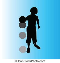 boy vector silhouette