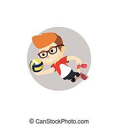 Boy volley ball player