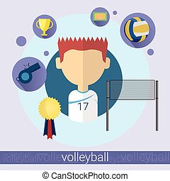Boy Volleyball Player Icon