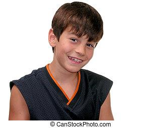 Boy w/ Braces Smiling - Smiling 10 year old boy with braces.