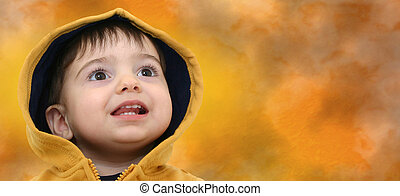 Boy w/Clipping Path - Space for copy with clipping path...