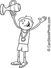 boy winner coloring page