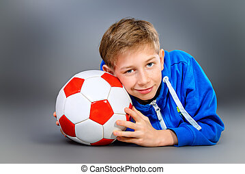 boy with a ball