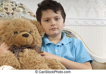 Boy with a bear