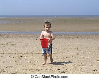 Boy with a bucket