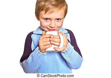 Boy with a cup