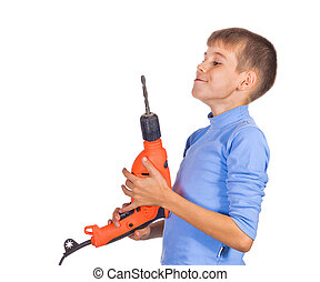 Boy with a drill
