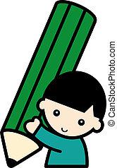 boy with a pencil