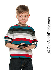 Boy with a smartphone