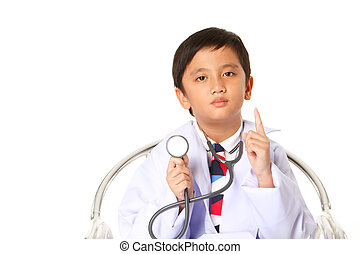 boy with a stethoscope.