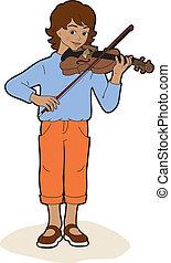 Boy with a violin