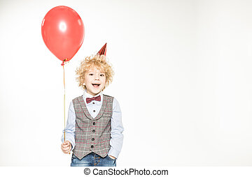 Boy with air balloon