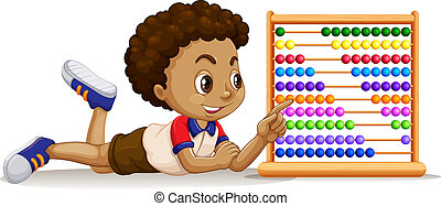 Boy with an abacus