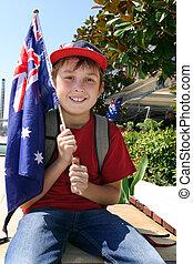 Boy with Australian Flag