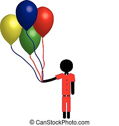 boy with balloon - boy holding balloons