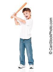 Boy with baseball bat