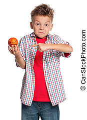 Boy with basketball ball