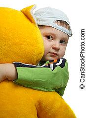 Boy with big teddy