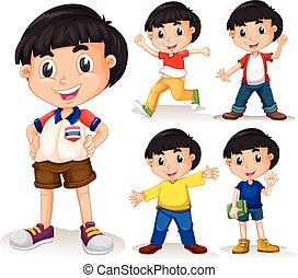 Boy with black hair