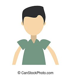 boy with blue shirt isolated symbol Vector design...