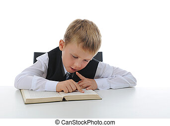 Boy with book