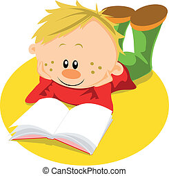 boy with book learn