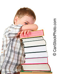 boy with books 3