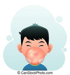 Boy with Bubble Gum