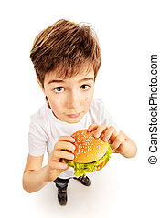 boy with burger