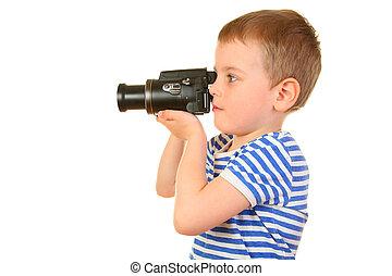 boy with camera profile