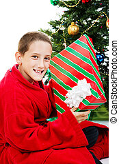 Boy With Chrstmas Gift