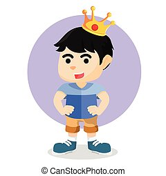 boy with crowns on his head