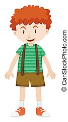 Boy with curly hair illustration