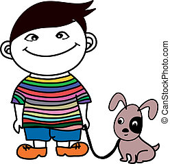 Boy with Dog friend