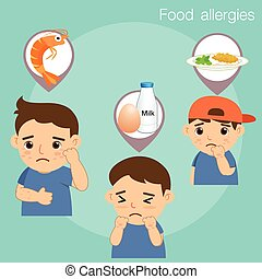Boy with food allergies