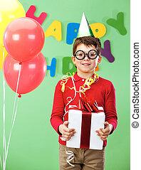 Boy with giftbox