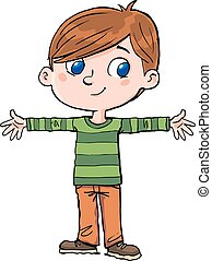 boy with his arms outstretched