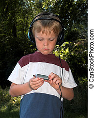 boy with music
