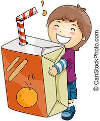 Boy with Orange Drink