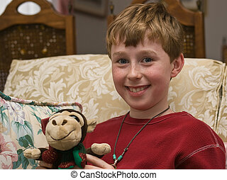 Boy with puppet
