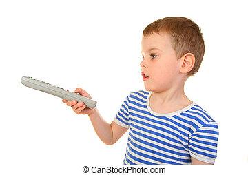 boy with remote control profile
