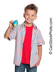 Boy with rugby ball