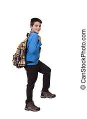 boy with school bag