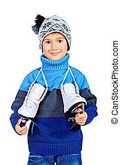 boy with skates