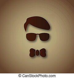 Boy with sun glasses over brown
