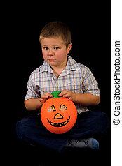boy with the pumpkin