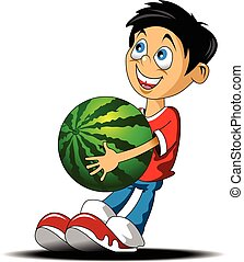 boy with watermelon.eps