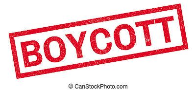 Boycott rubber stamp